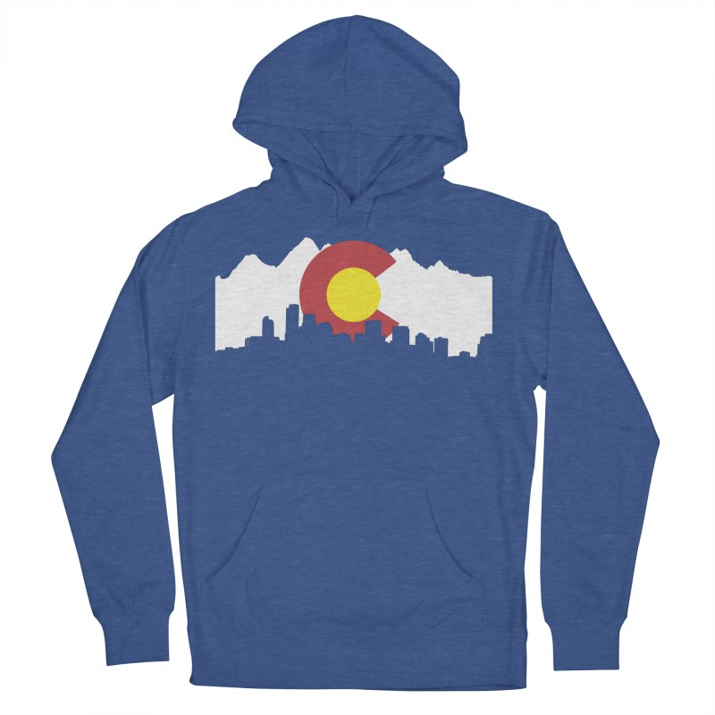 Colorado Flag Women's French Terry Pullover Hoody by Peter Fiorella's Shop