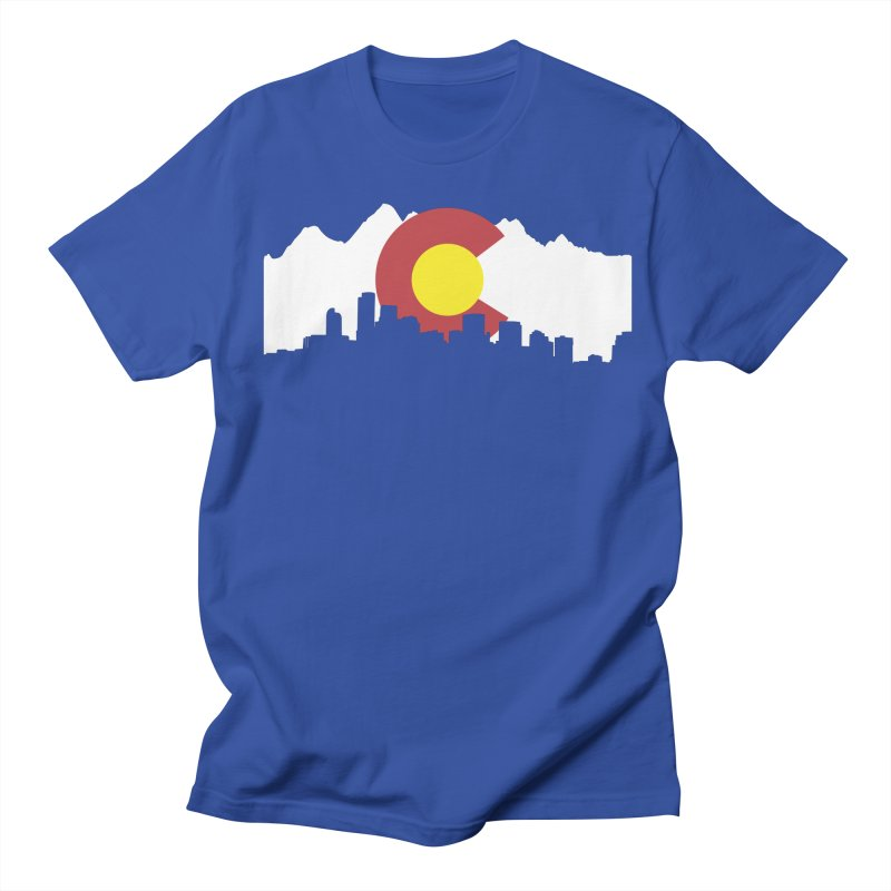 Colorado Flag Men's T-Shirt by Peter Fiorella's Shop