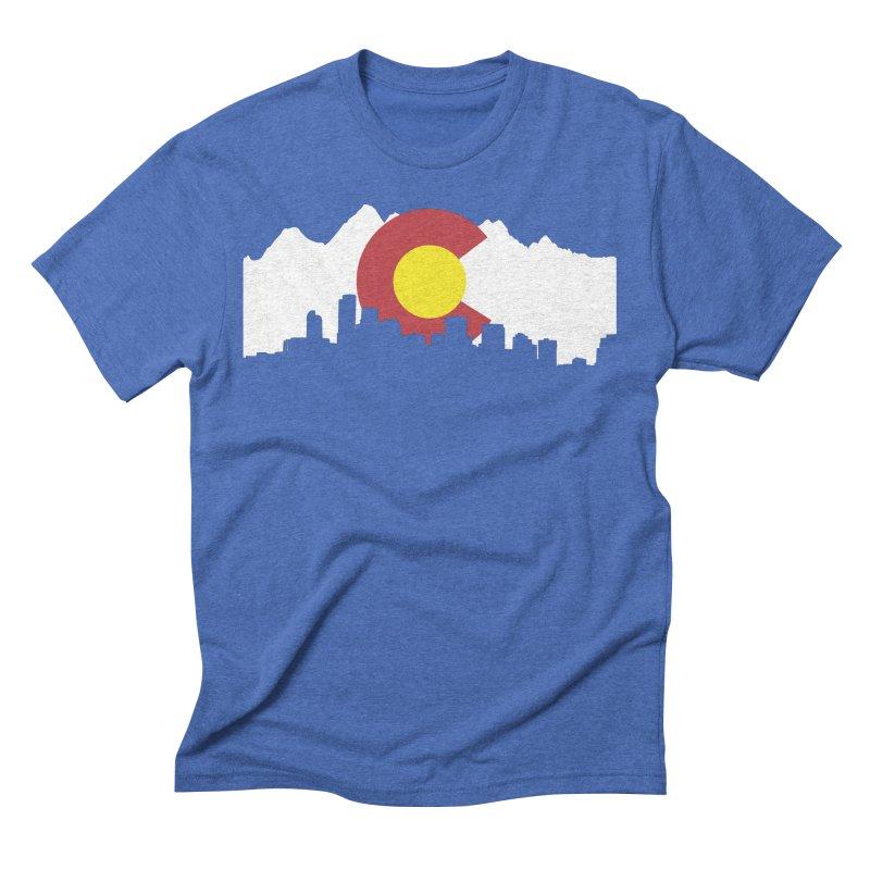 Colorado Flag Men's T-Shirt by Peter Fiorella's Shop