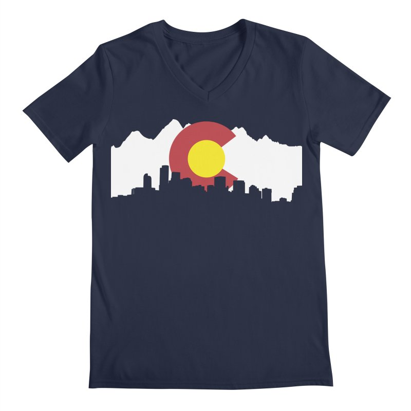 Colorado Flag Men's V-Neck by Peter Fiorella's Shop