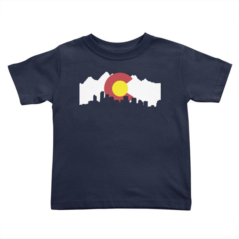 Colorado Flag Kids Toddler T-Shirt by Peter Fiorella's Shop