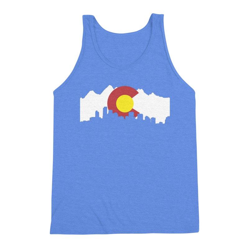 Colorado Flag Men's Triblend Tank by Peter Fiorella's Shop