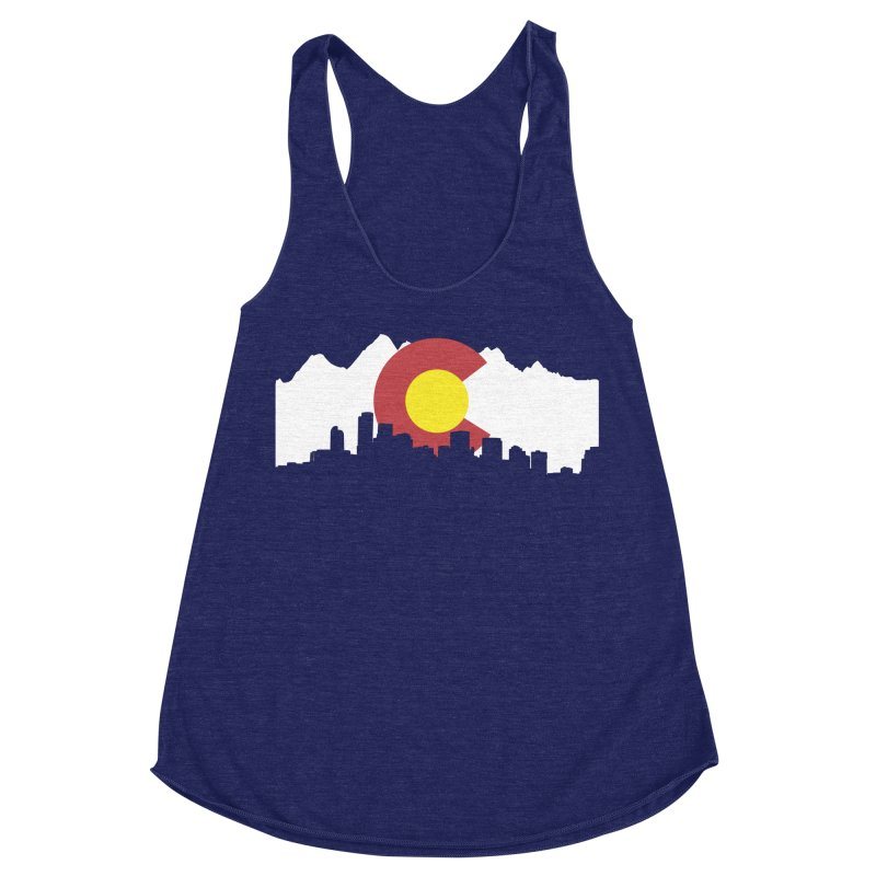 Colorado Flag Women's Racerback Triblend Tank by Peter Fiorella's Shop