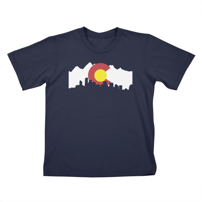 Colorado Flag Kids T-Shirt by Peter Fiorella's Shop