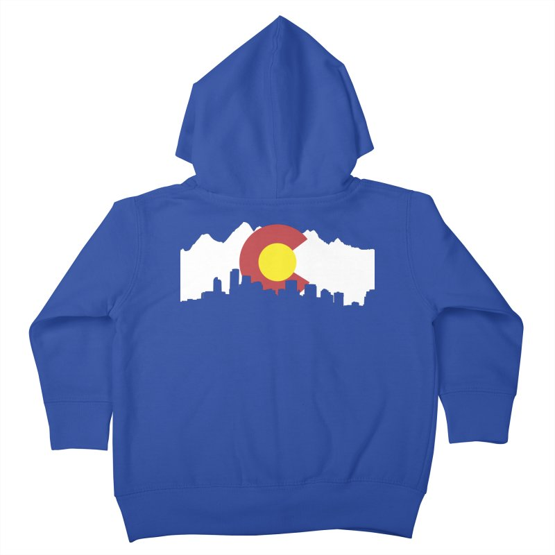 Colorado Flag Kids Toddler Zip-Up Hoody by Peter Fiorella's Shop