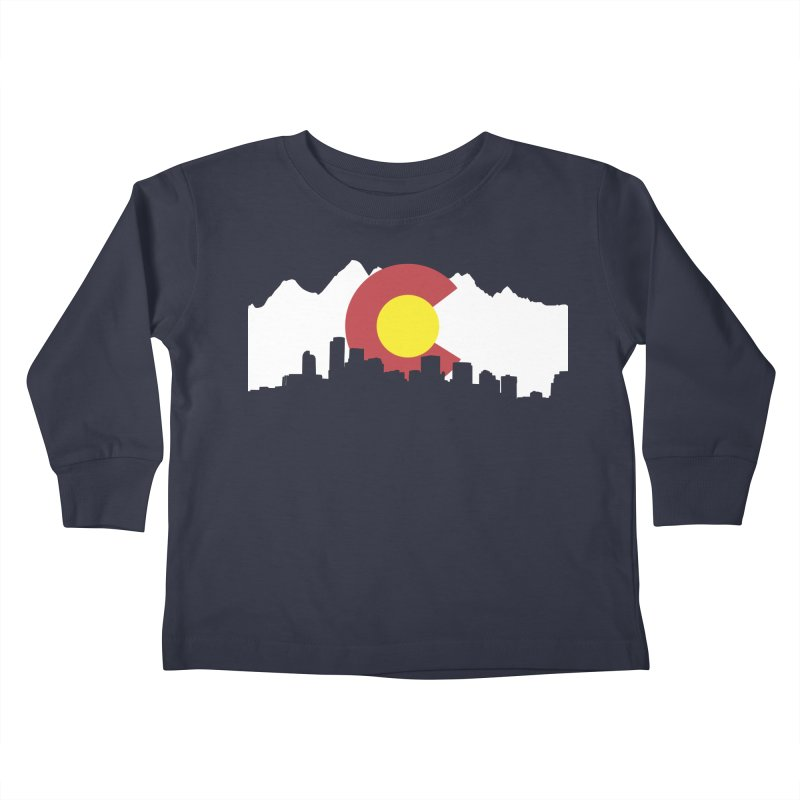 Colorado Flag Kids Toddler Longsleeve T-Shirt by Peter Fiorella's Shop