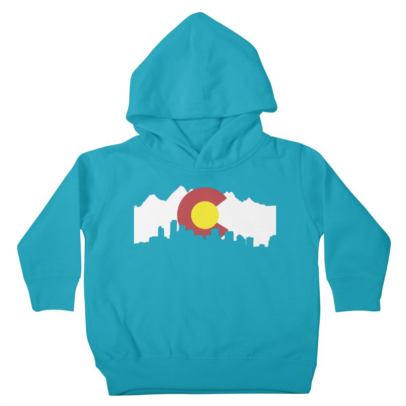 Colorado Flag Kids Toddler Pullover Hoody by Peter Fiorella's Shop