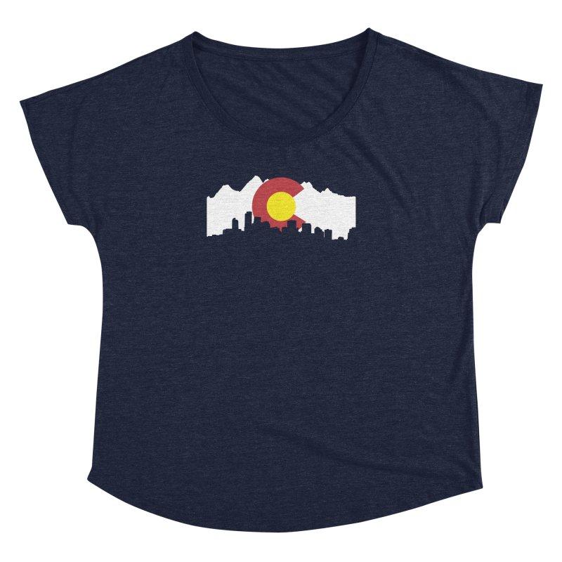 Colorado Flag Women's Dolman Scoop Neck by Peter Fiorella's Shop