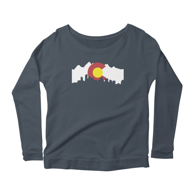 Colorado Flag Women's Scoop Neck Longsleeve T-Shirt by Peter Fiorella's Shop