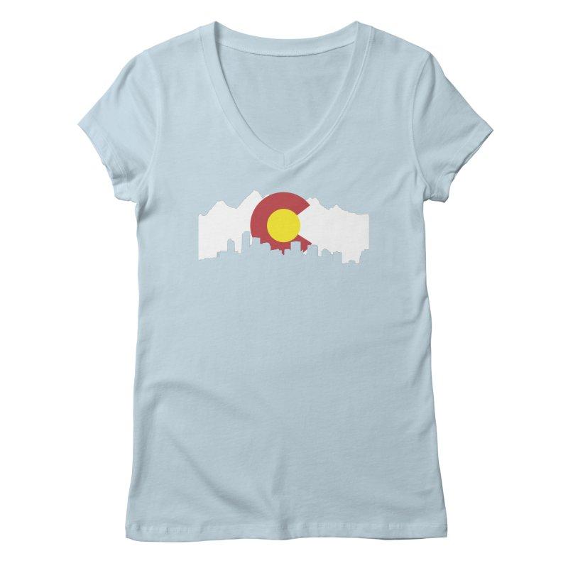 Colorado Flag Women's Regular V-Neck by Peter Fiorella's Shop