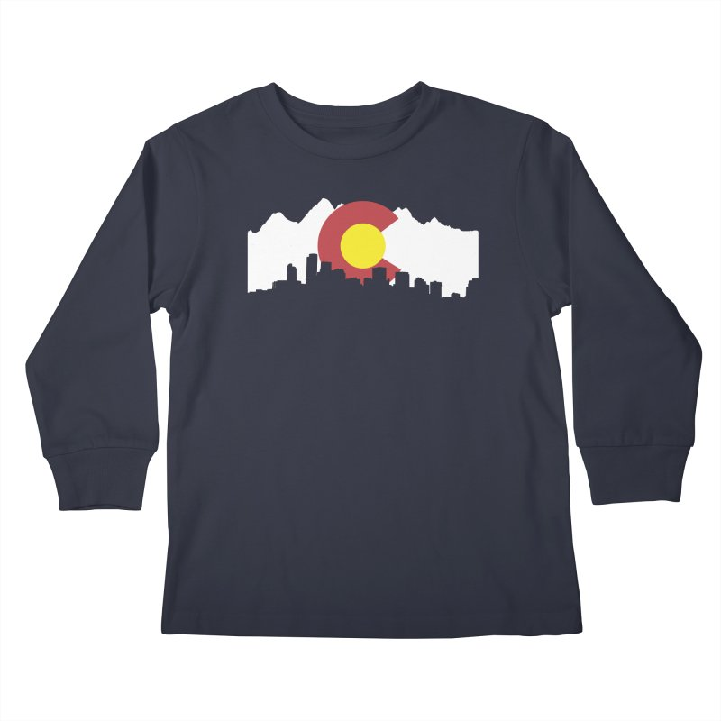Colorado Flag Kids Longsleeve T-Shirt by Peter Fiorella's Shop