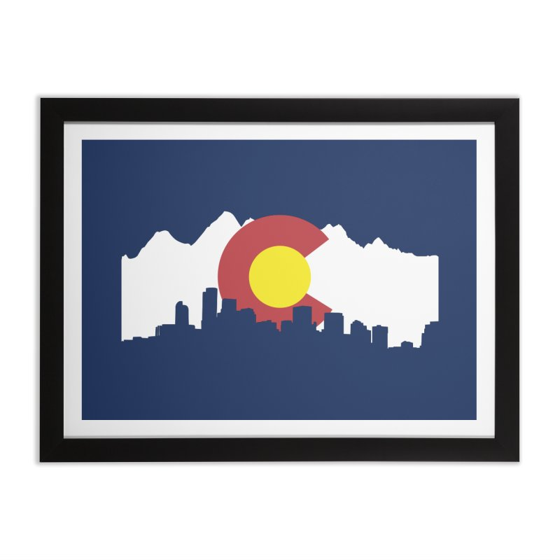 Colorado Flag Home Framed Fine Art Print by Peter Fiorella's Shop