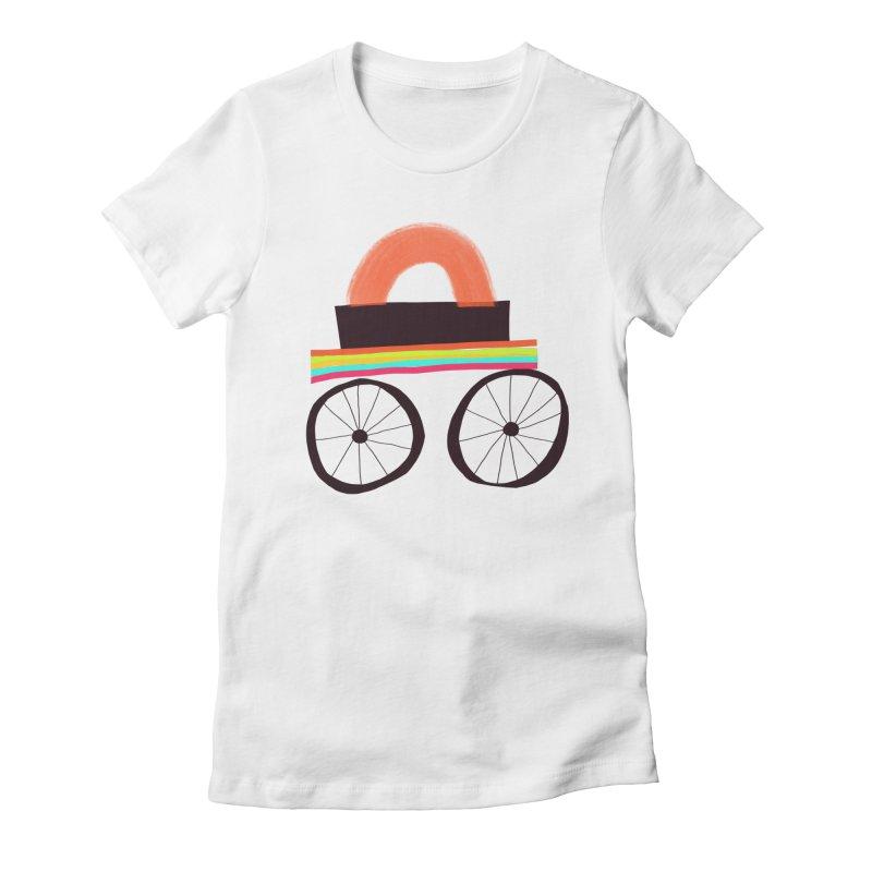Trolley 1 Women's Fitted T-Shirt by Michael Pfleghaar