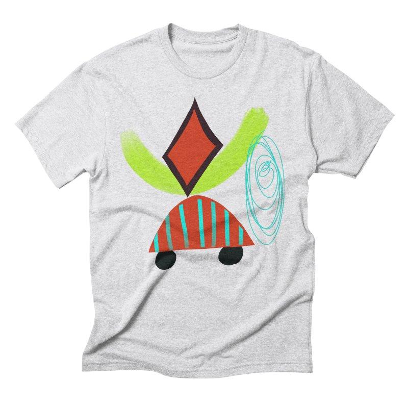 Trolley 2 Men's Triblend T-Shirt by Michael Pfleghaar