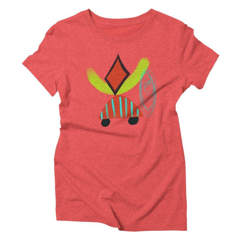 Trolley 2 Women's Triblend T-Shirt by Michael Pfleghaar