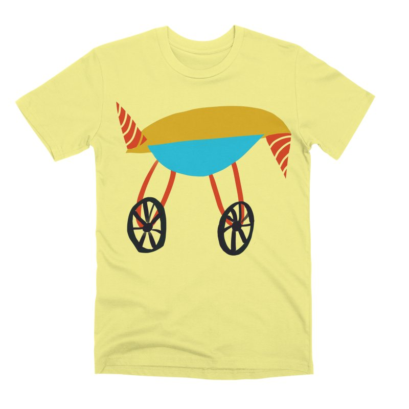 Trolley 3 Men's Premium T-Shirt by Michael Pfleghaar