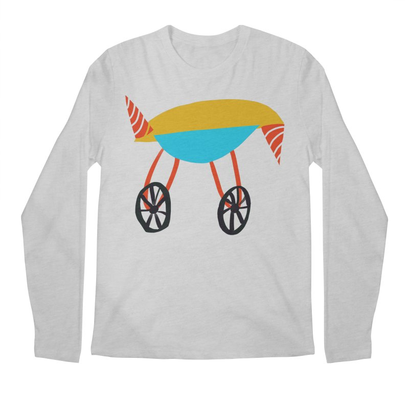 Trolley 3 Men's Regular Longsleeve T-Shirt by Michael Pfleghaar