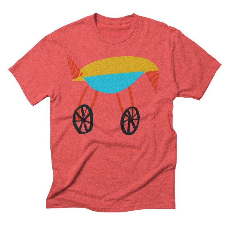 Trolley 3 Men's Triblend T-Shirt by Michael Pfleghaar