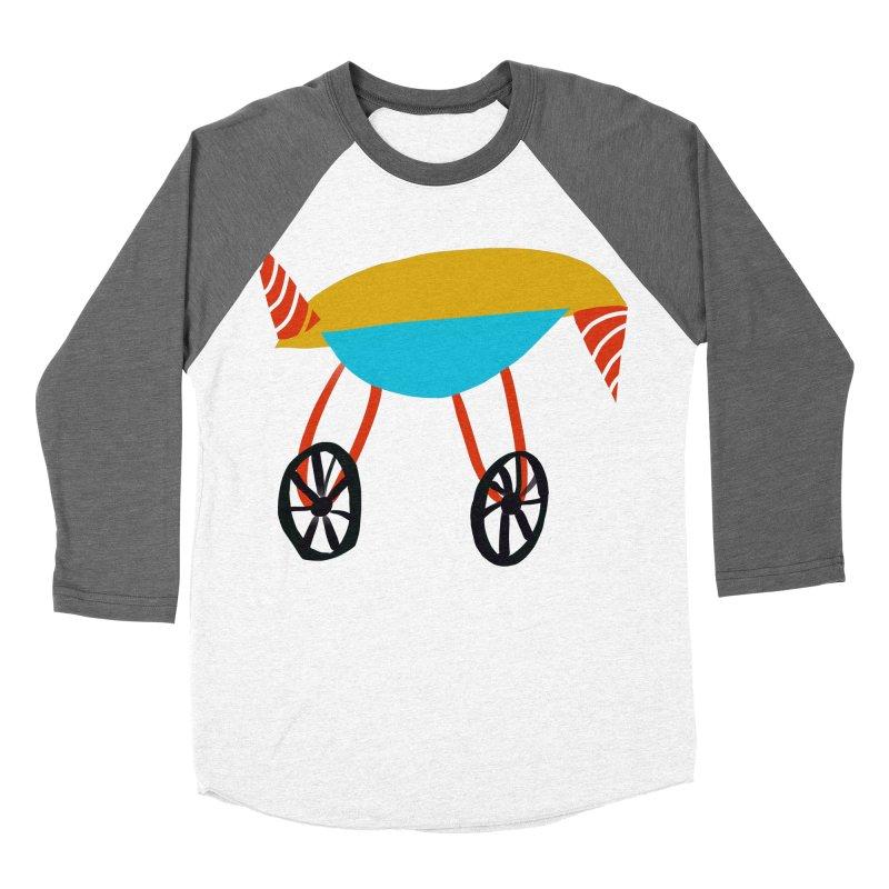 Trolley 3 Men's Baseball Triblend Longsleeve T-Shirt by Michael Pfleghaar
