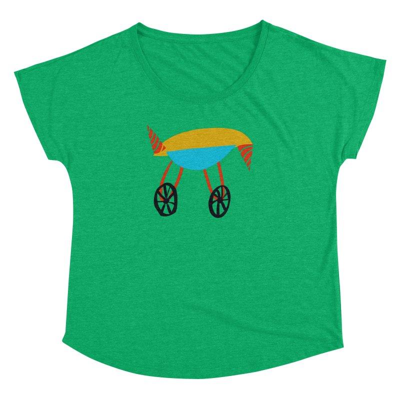 Trolley 3 Women's Dolman Scoop Neck by Michael Pfleghaar