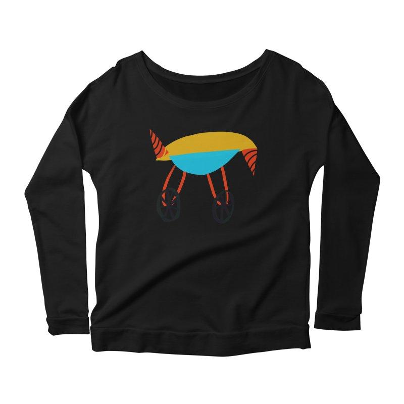 Trolley 3 Women's Scoop Neck Longsleeve T-Shirt by Michael Pfleghaar