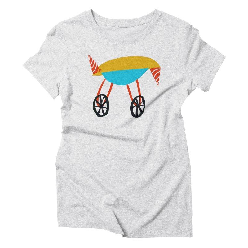 Trolley 3 Women's Triblend T-Shirt by Michael Pfleghaar