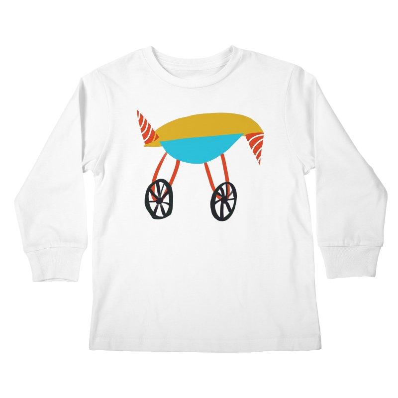 Trolley 3 Kids Longsleeve T-Shirt by Michael Pfleghaar