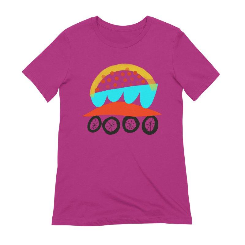 Trolley 4 Women's Extra Soft T-Shirt by Michael Pfleghaar