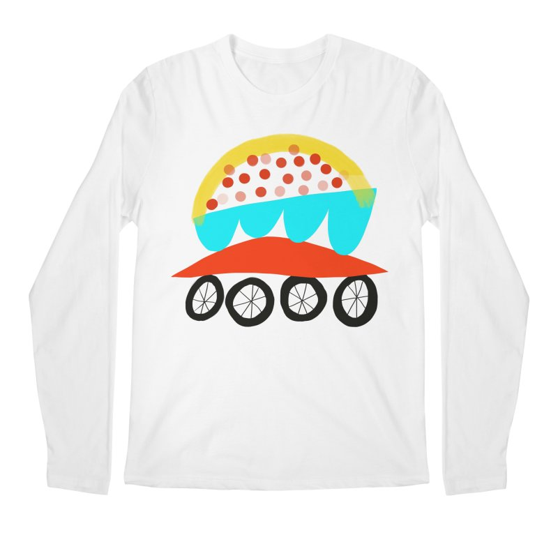 Trolley 4 Men's Regular Longsleeve T-Shirt by Michael Pfleghaar