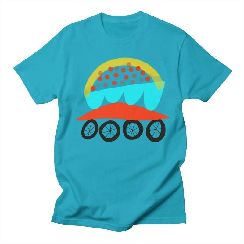 Trolley 4 Men's Regular T-Shirt by Michael Pfleghaar