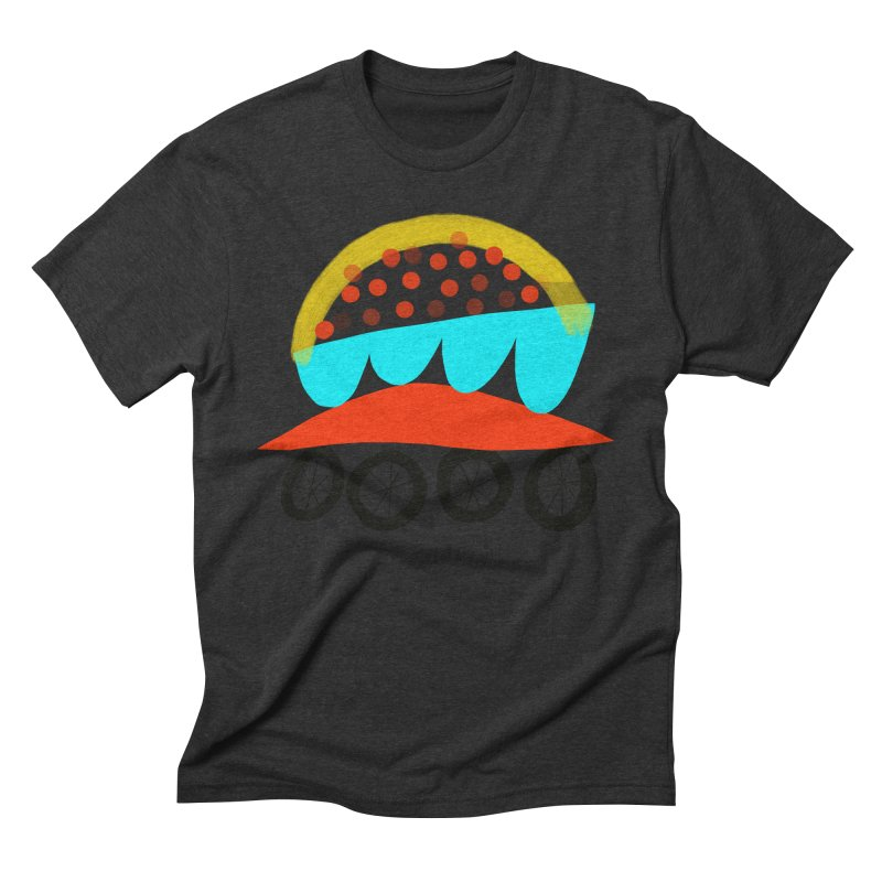 Trolley 4 Men's Triblend T-Shirt by Michael Pfleghaar