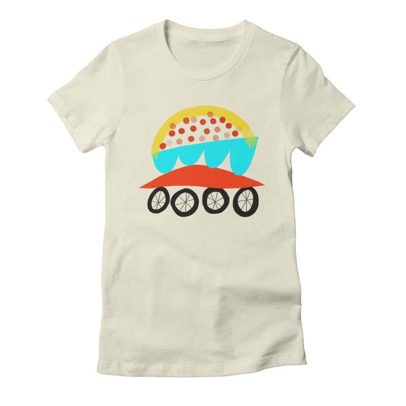 Trolley 4 Women's Fitted T-Shirt by Michael Pfleghaar