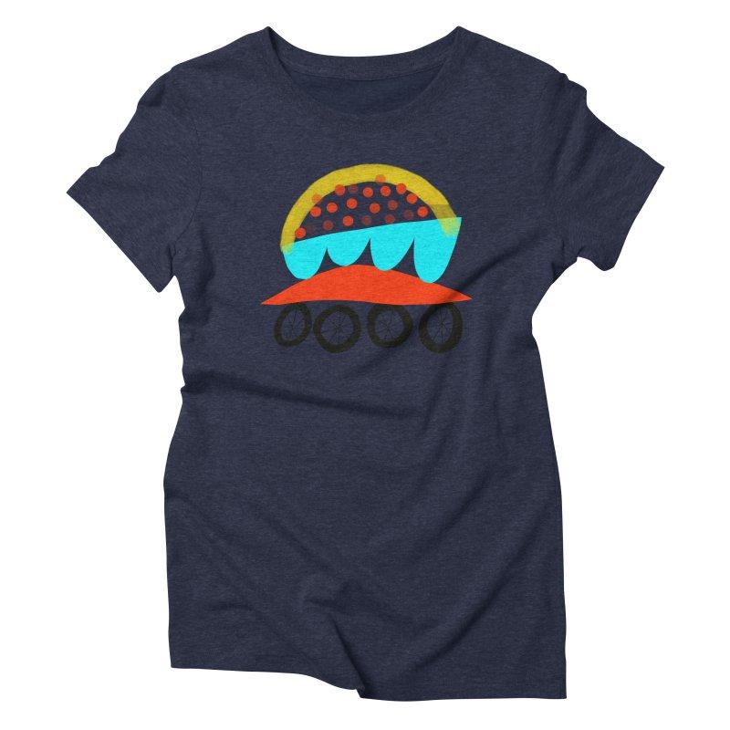 Trolley 4 Women's Triblend T-Shirt by Michael Pfleghaar