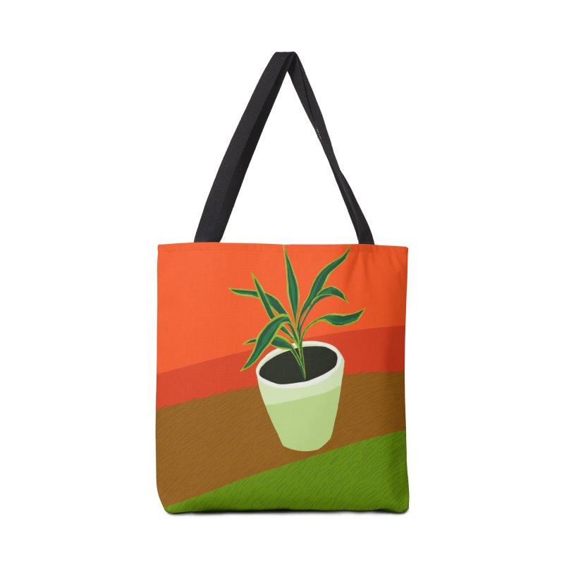 Plant on Red Accessories Tote Bag Bag by Michael Pfleghaar