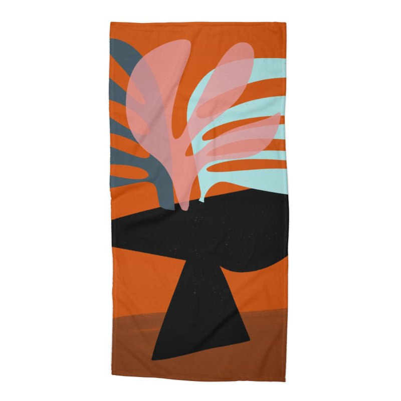 Tropical Still Life 1 in Beach Towel by Michael Pfleghaar