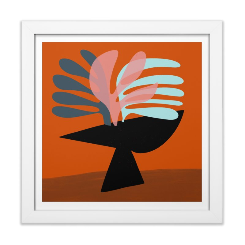 Tropical Still Life 1 in Framed Fine Art Print White by Michael Pfleghaar