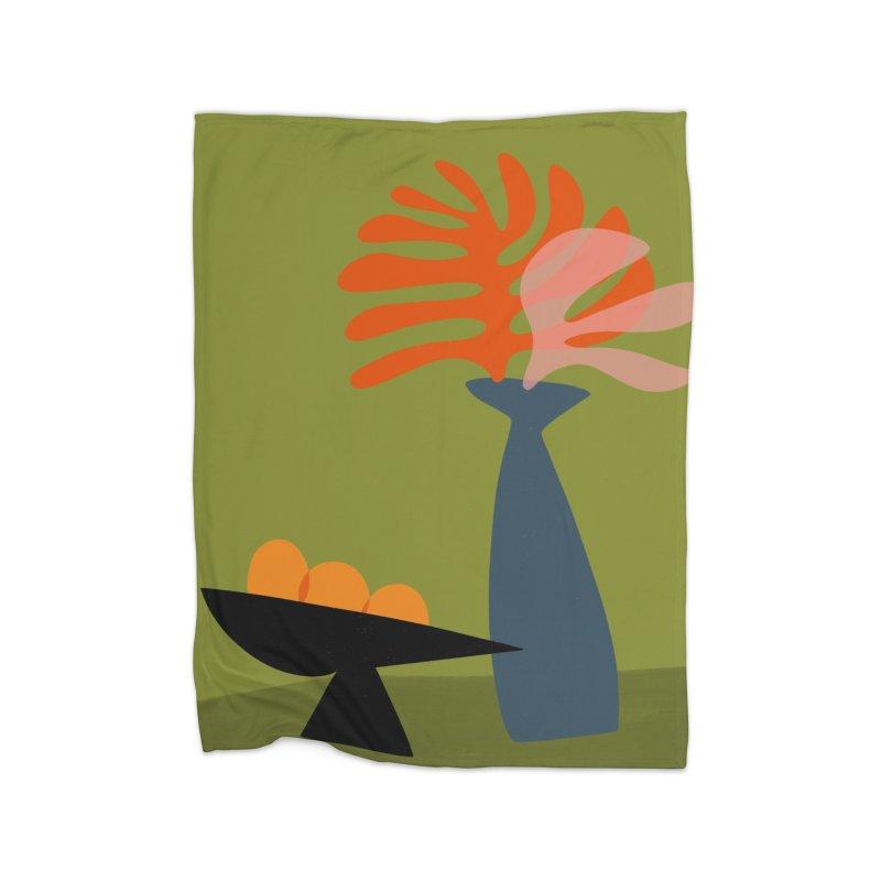 Tropical Still Life 3 Home Fleece Blanket Blanket by Michael Pfleghaar