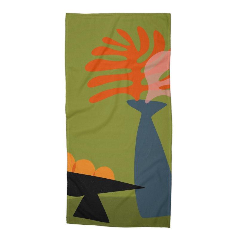 Tropical Still Life 3 Accessories Beach Towel by Michael Pfleghaar