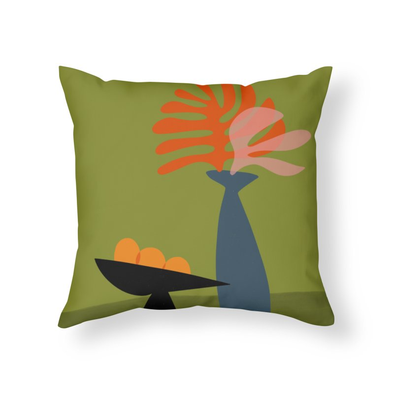 Tropical Still Life 3 in Throw Pillow by Michael Pfleghaar