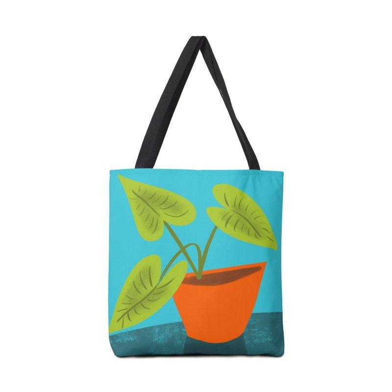 Seedlings on Aqua Accessories Tote Bag Bag by Michael Pfleghaar