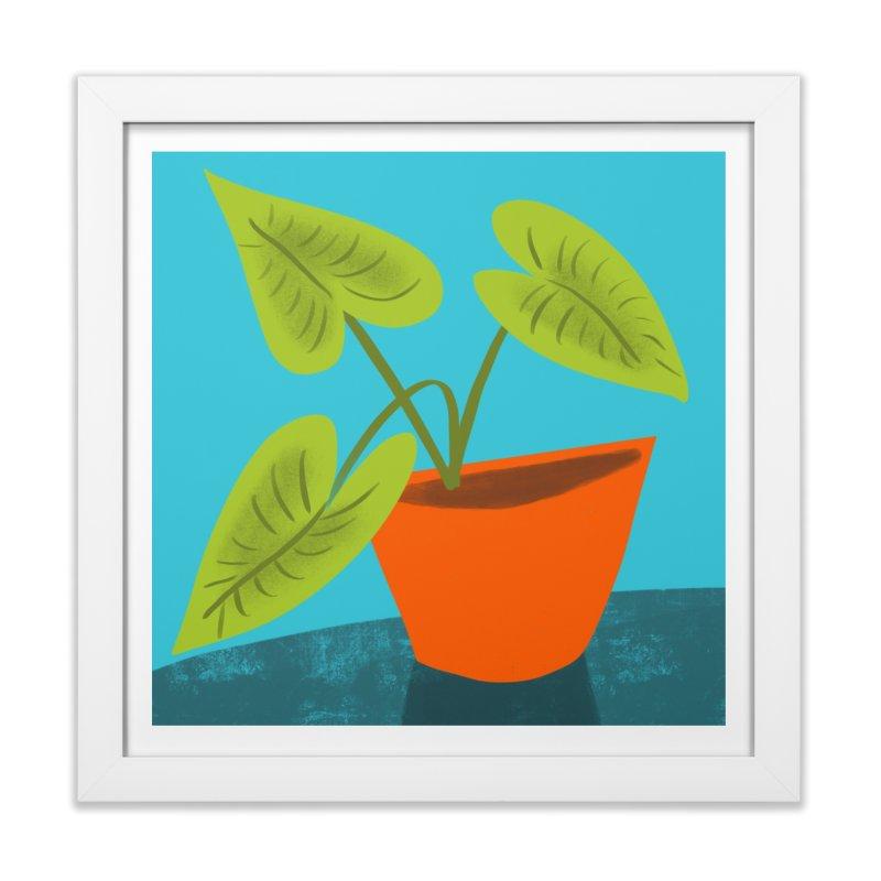Seedlings on Aqua in Framed Fine Art Print White by Michael Pfleghaar