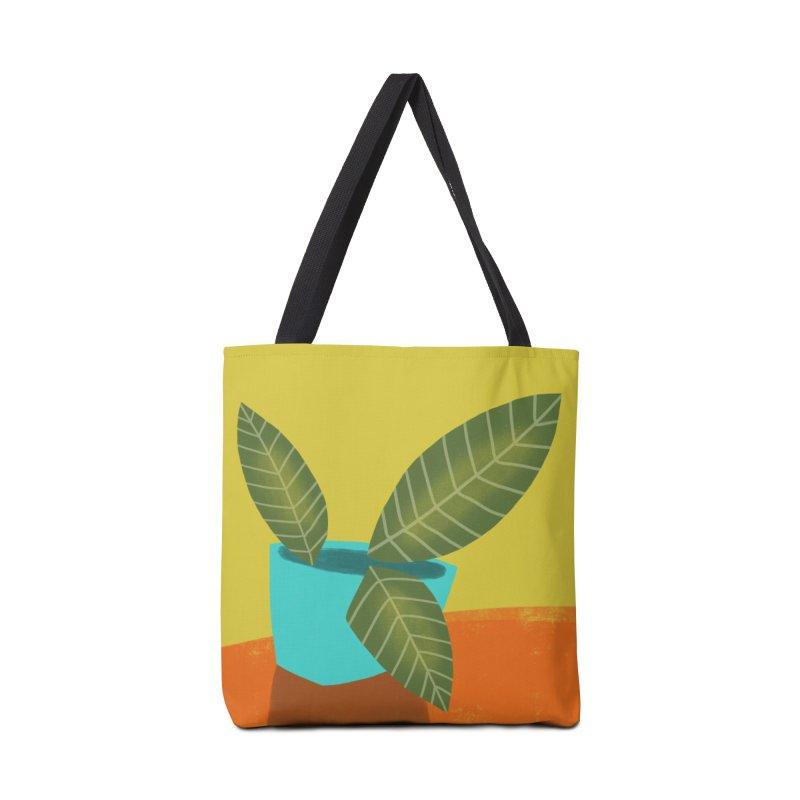 Seedlings on Yellow Accessories Tote Bag Bag by Michael Pfleghaar