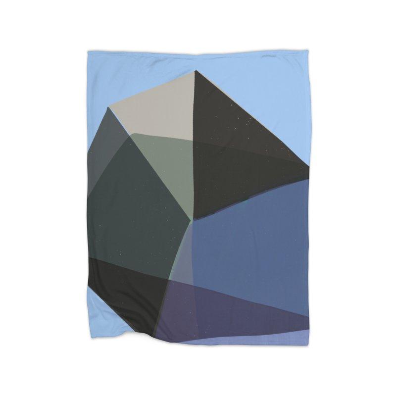 Classic Blue 1 Home Fleece Blanket Blanket by Michael Pfleghaar
