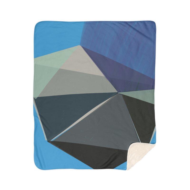 Classic Blue 3 Home Sherpa Blanket Blanket by Michael Pfleghaar