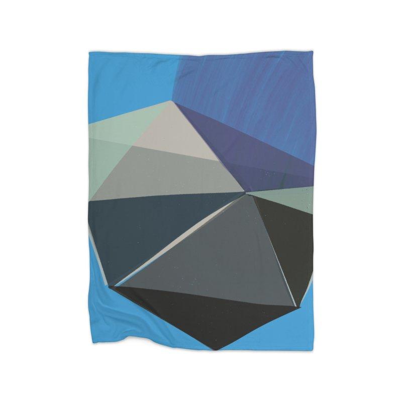 Classic Blue 3 Home Fleece Blanket Blanket by Michael Pfleghaar