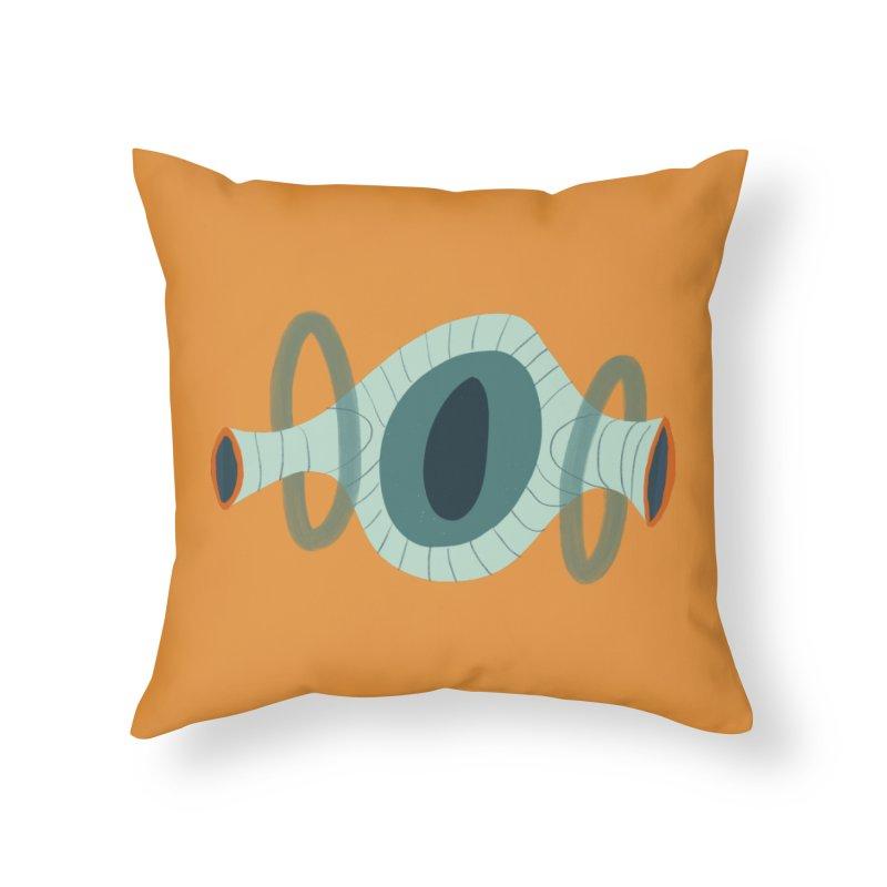 Hula in Throw Pillow by Michael Pfleghaar