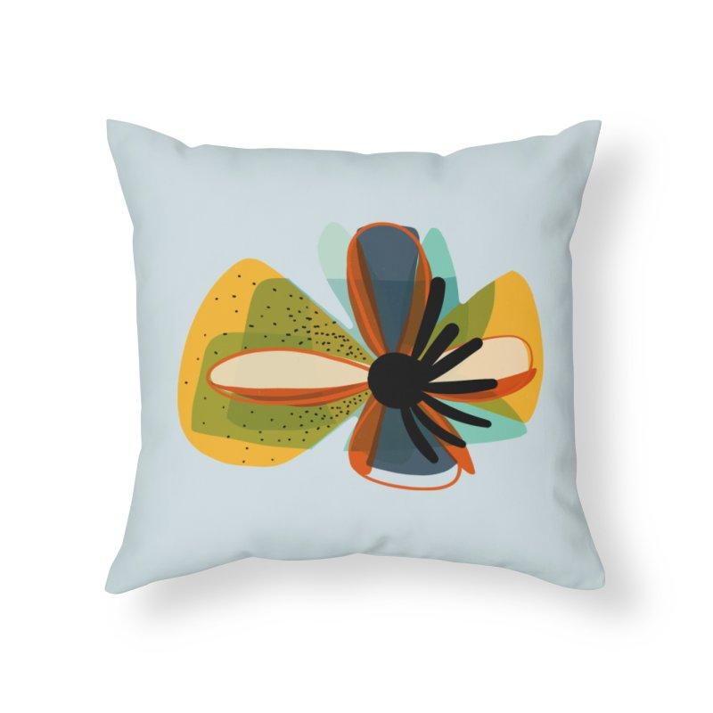 Flower Power in Throw Pillow by Michael Pfleghaar