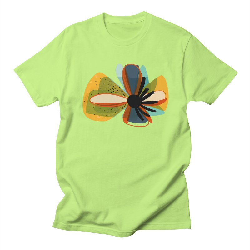 Flower Power in Men's Regular T-Shirt Neon Green by Michael Pfleghaar
