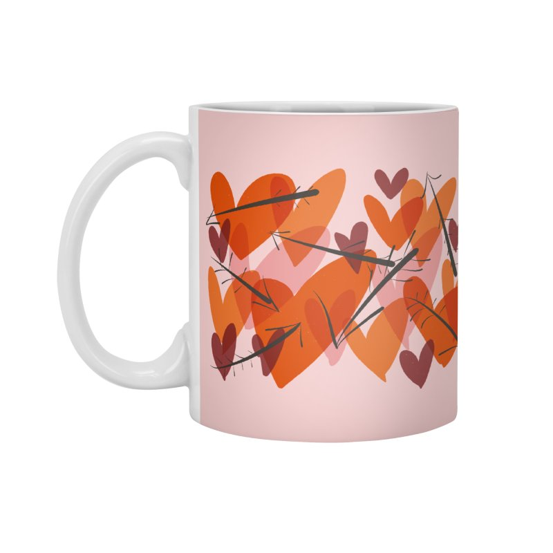 Hearts and Arrows in Standard Mug White by Michael Pfleghaar