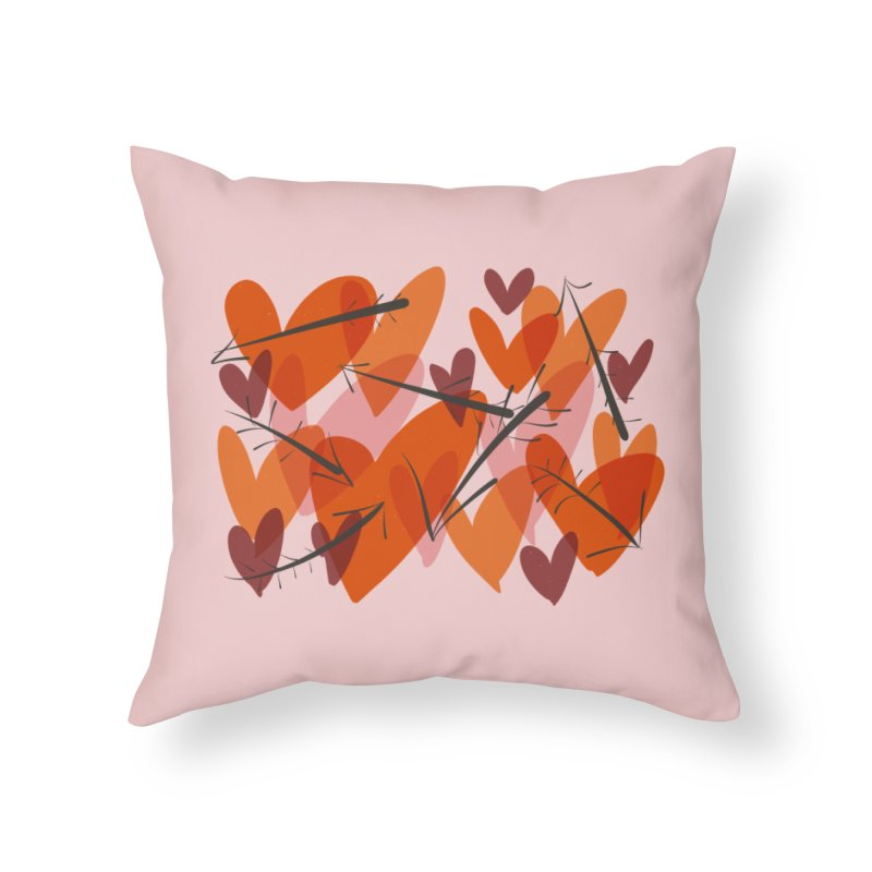 Hearts and Arrows in Throw Pillow by Michael Pfleghaar